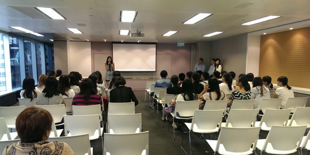 A panoramic view of Sun Hung Kai Finance's training room